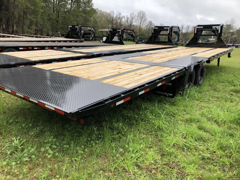 2020 PJ Trailers 102x32 Low-Pro with Hydraulic Dove (LY) Equipment Trailer