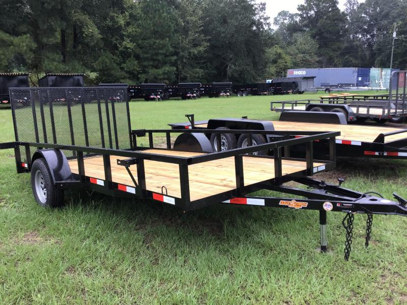 "2020 Down 2 Earth Trailers 82"" x 14' SA w/ Dovetail Utility Trailer"