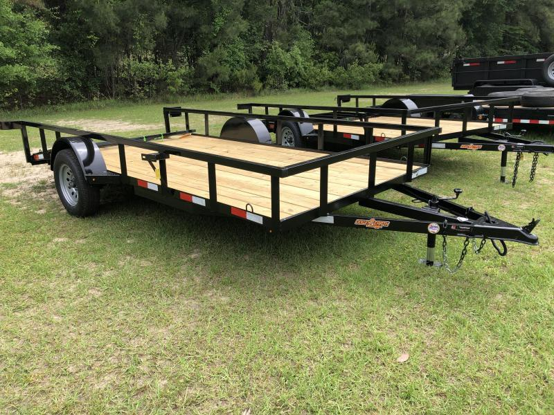 "2021 Down 2 Earth Trailers 76""x14' w/ Lay-In Gate Utility Trailer"