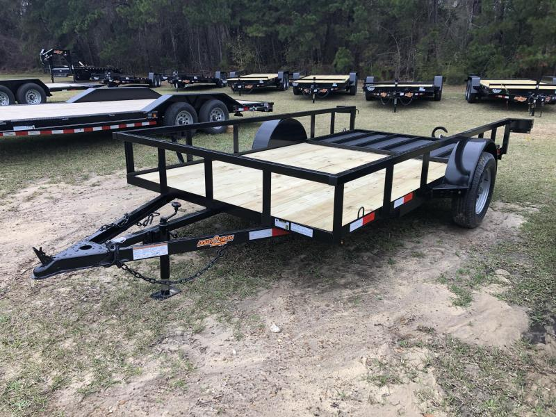 "2021 Down 2 Earth Trailers 76""x12' w/ Lay-In Gate Utility Trailer"