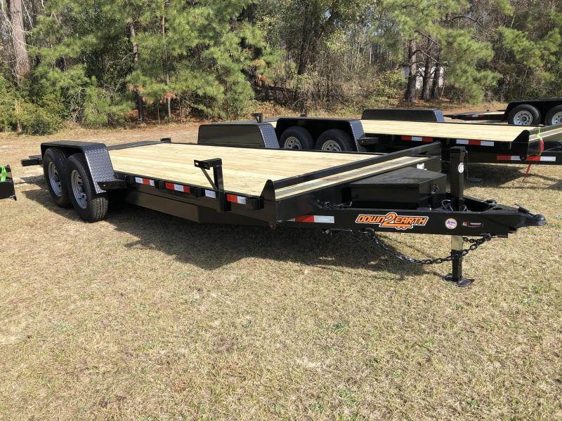 2021 Down 2 Earth Trailers 82x20 Powered 14k FULL TILT Equipment Trailer