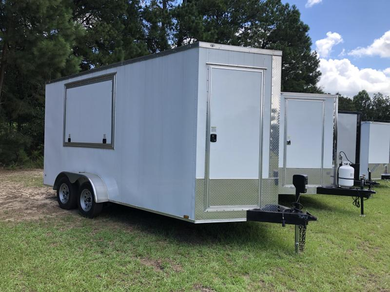 2021 Diamond Cargo 7x16TA w/ Concession Window Enclosed Cargo Trailer