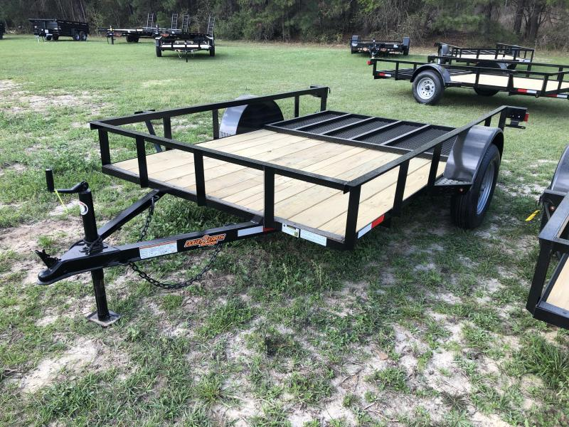 "2021 Down 2 Earth Trailers 76""X10' SA - ANGLE Utility Trailer"