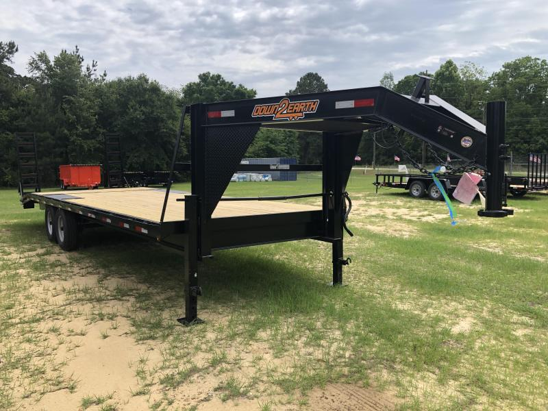 "2021 Down 2 Earth Trailers 102""x26' FULL DECK OVER TILT Equipment Trailer"
