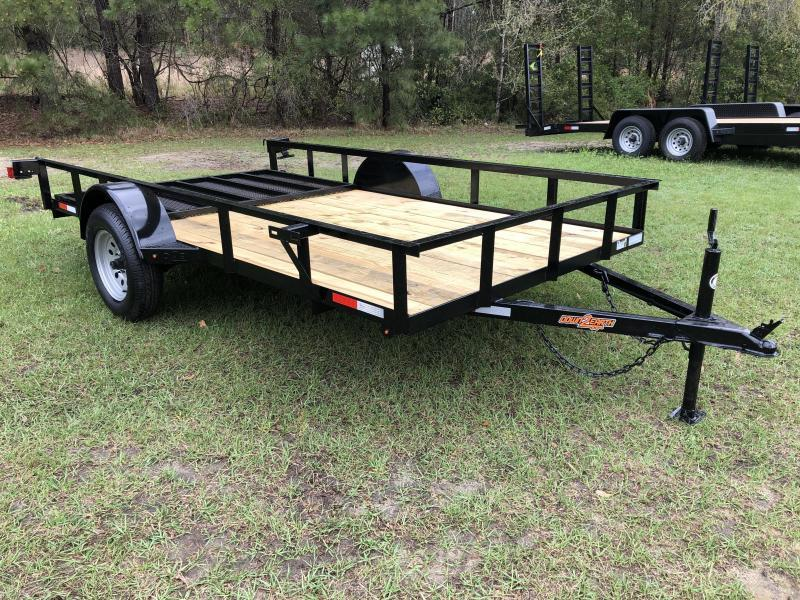 "2021 Down 2 Earth Trailers 76""X12' SA - ANGLE Utility Trailer"