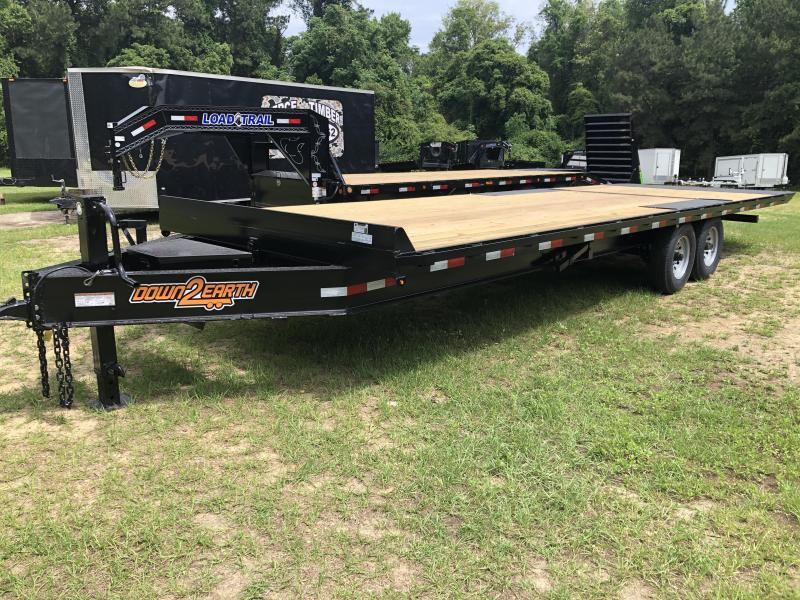 2021 Down 2 Earth Trailers 102X24TA DECKOVER TILT Equipment Trailer