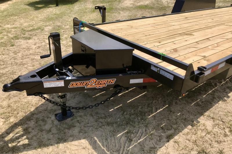 2021 Down 2 Earth Trailers 82x22 Powered 10k FULL TILT Equipment Trailer