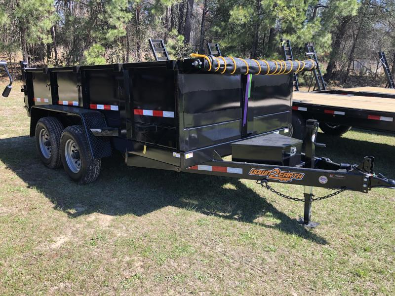 "2021 Down 2 Earth Trailers 72x12TA w/ 24"" Sides Dump Trailer"