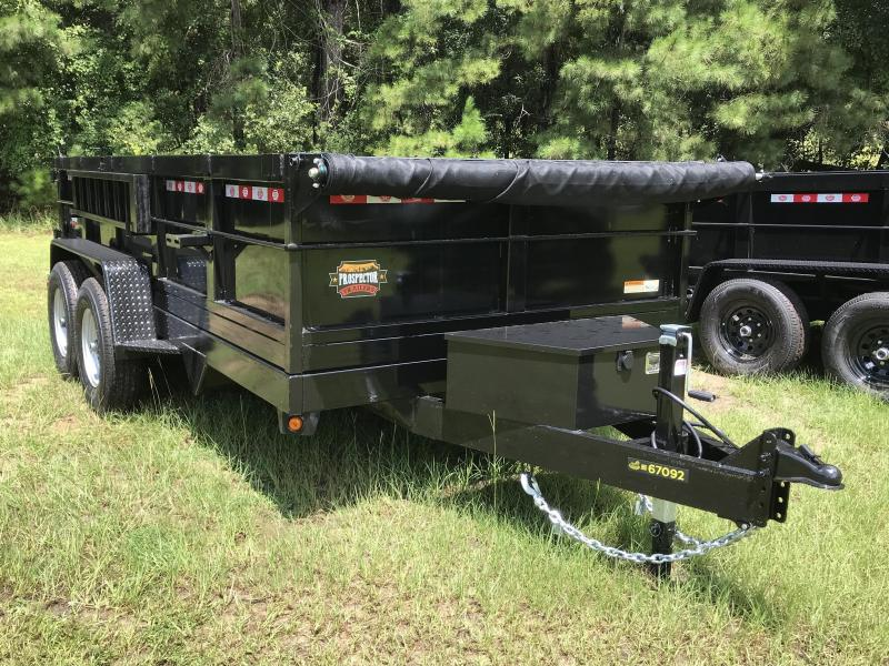 "2021 Covered Wagon 7x14TA w/ 24"" Sides Dump Trailer"