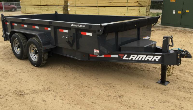 """2021 83"""" X 12' Lamar  Dump"""