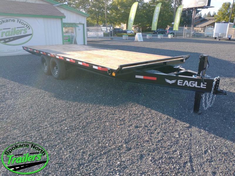 2021 Eagle Trailer 8.5x20 Blackhawk 14K Equipment Deckover