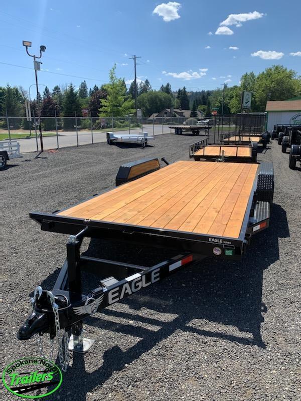 2020 Eagle Trailer 7x18 Eagle Auto/Equipment 10k Flatbed