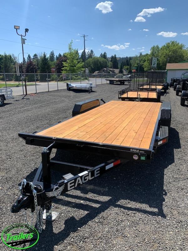 2021 Eagle Trailer 7x18 Eagle Auto/Equipment 10k Flatbed