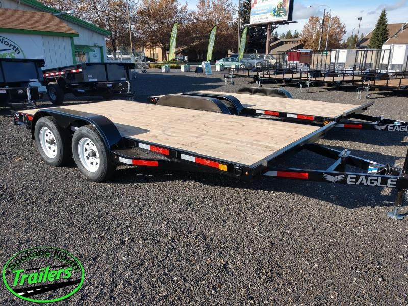 2020 Eagle Trailer 7x14 Eagle Auto/Equipment 7k Flatbed