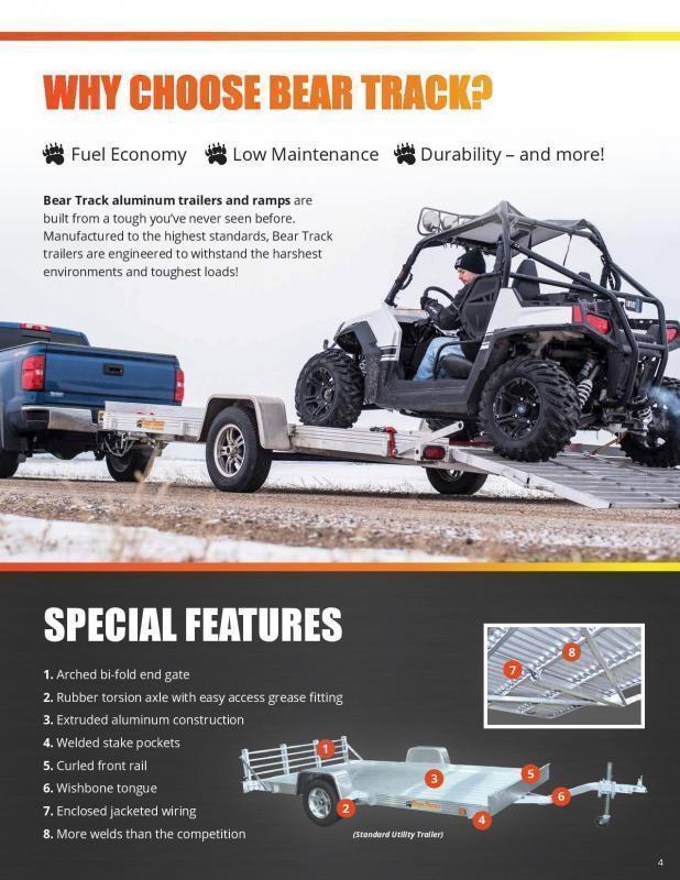2021 Bear Track 4.5x10 Utility Trailer