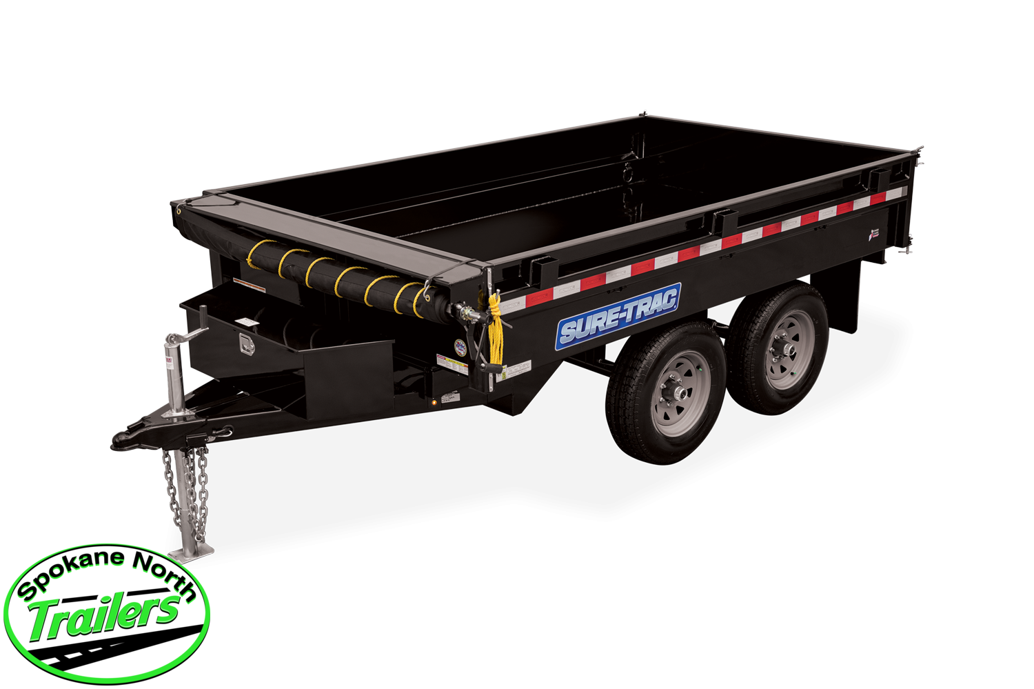 2021 Sure-Trac 6X10 SD Deckover Dump Trailer 7K
