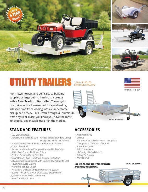 2021 Bear Track 6.5x14 Utility Trailer