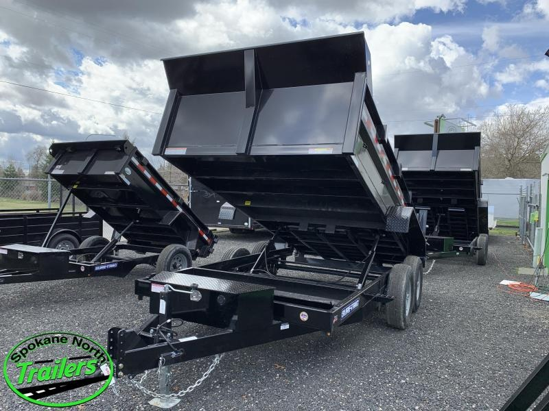 2021 Sure-Trac 7x14 HD 14K Dual Ram Low Profile Dump Trailer