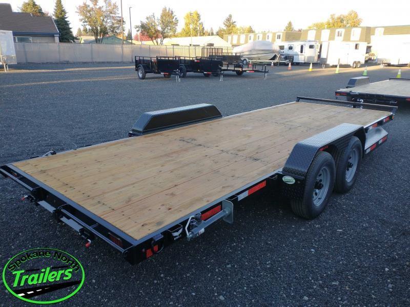 2022 Eagle Trailer 7x20 Eagle Auto/Equipment 10k Flatbed