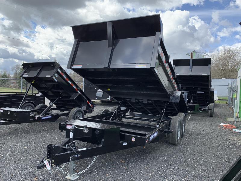 2021 Sure-Trac 7x14 HD 14K Dual Ram Low Profile Dump Trailer