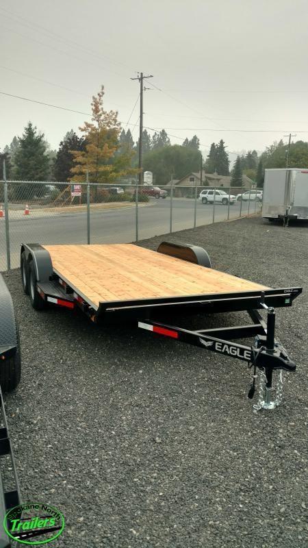 2021 Eagle Trailer 7x16 Eagle Auto/Equipment 7k Flatbed