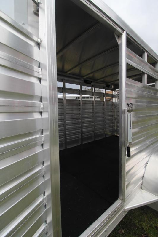 """2021 Exiss Trailers EXPRESS LIVESTOCK TRAILER 613 BUMPER PULL 6'8"""" TALL"""