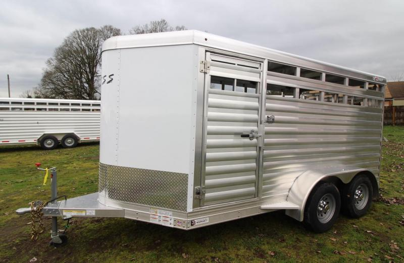 "2021 Exiss Trailers EXPRESS LIVESTOCK TRAILER 613 BUMPER PULL 6'8"" TALL"