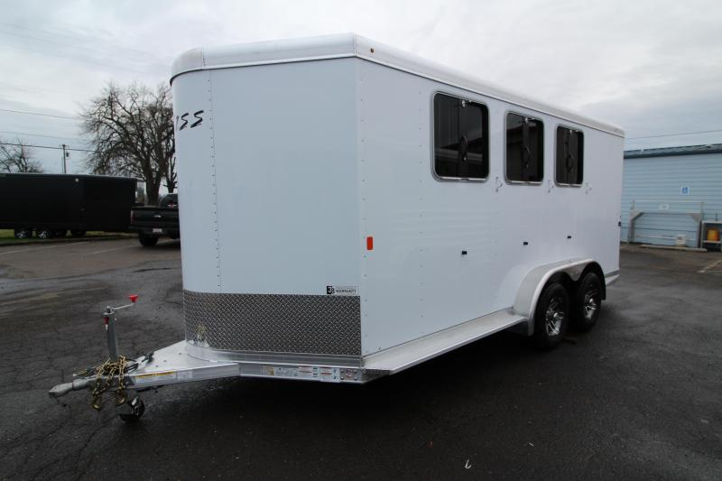 2020 Exiss  730 - 3 Horse Trailer - All Aluminum Construction - Drop Down Feed Windows -  Adjustable Saddle Rack