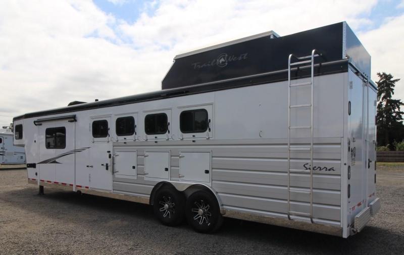 2021 Trails West 11X15 4 HORSE TRAILER LIVING QUARTERS W/ SLIDE OUT-SIDE LOAD-HAY POD-MANGERS-STUD DIVIDER