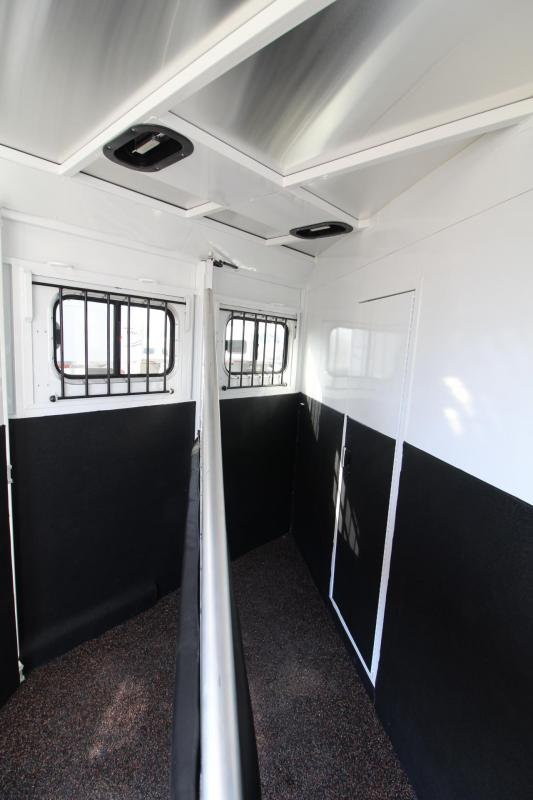 2021 Trails West CLASSIC LQ 2 HORSE TRAILER 8x13 FOLD-UP REAR TACK