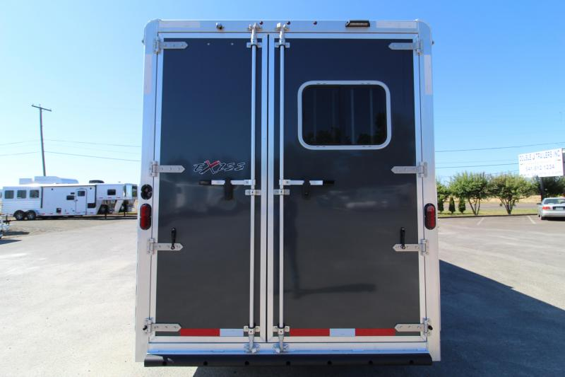 2020 Exiss 7308 3 Horse Trailer - All Aluminum Construction - Drop down windows - Easy Care Flooring