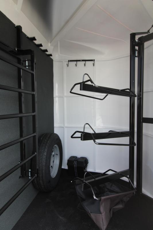NEW 2019 Trails West Sierra 3 Horse Trailer - Steel Frame with Aluminum Skin - Escape Door - Extruded Aluminum Siding - Swing Out Saddle Rack