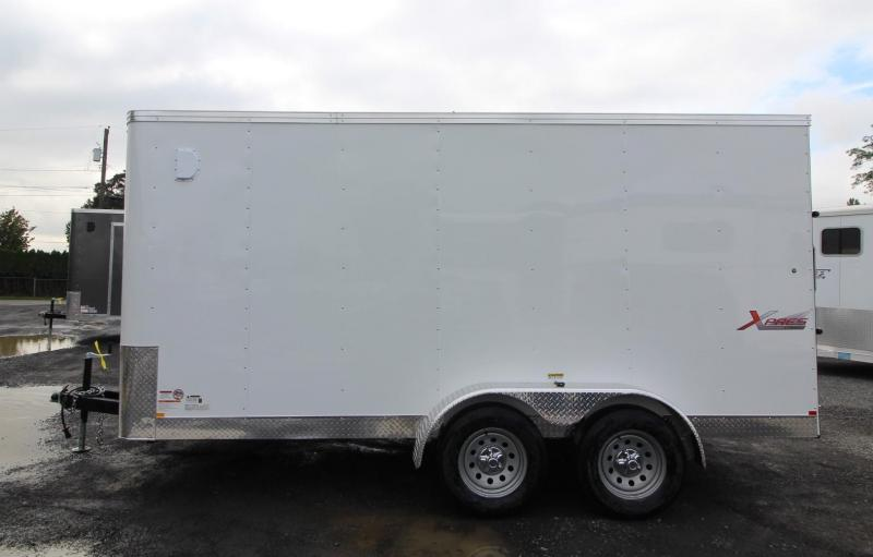 2020 Mirage Xpres 7x14 TA Enclosed Cargo Trailer - Xtra package - Rear ramp door - V nose - Flat roof