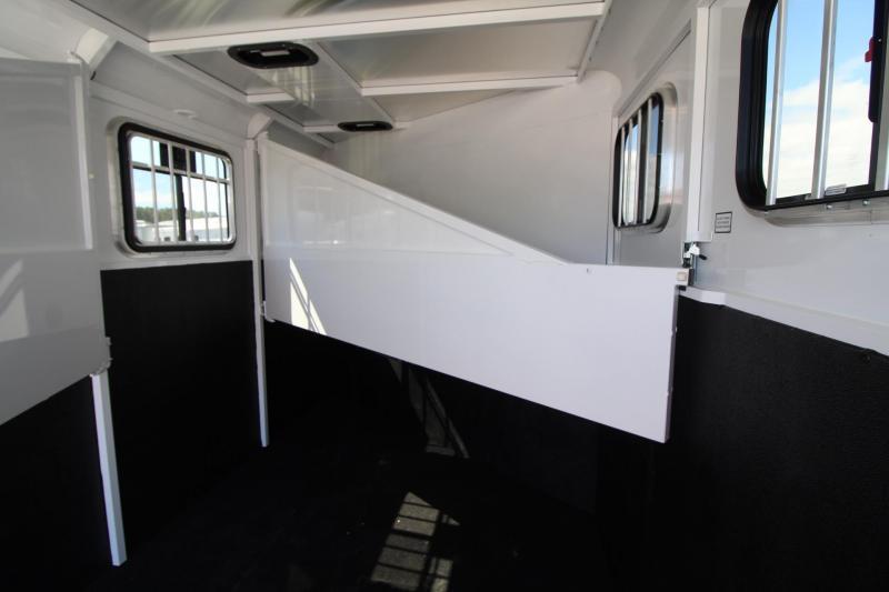 2020 Trails West Adventure MX II 3 Horse Trailer - Steel Frame Aluminum Skin - 16 Bridle Hooks - Convenience Package - Triple Wall Construction