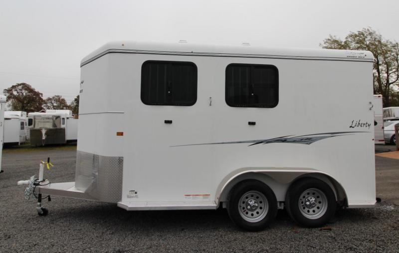 "2020 Thuro-Bilt Liberty 7'6"" Tall Warmblood Stall 2 Horse Trailer"