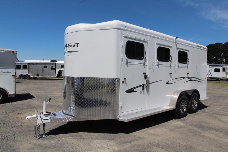 "2020 Trails West Classic II Warmblood 7'6"" Tall 3 Horse Trailer Steel frame aluminum skin"