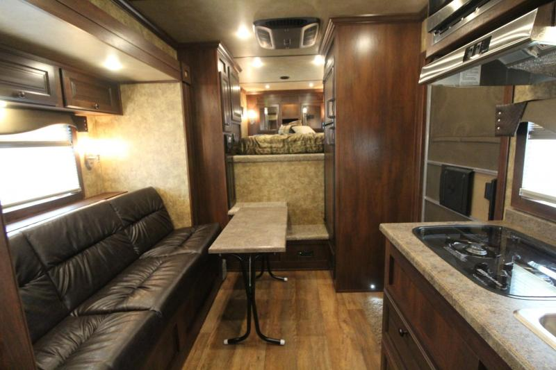 """2019 Exiss Trailers Escape 7310 - 10'6"""" Short Wall Living Quarters w/ Slide 3 Horse Trailer PRICE REDUCED $900 - All Aluminum - Easy Care Flooring"""