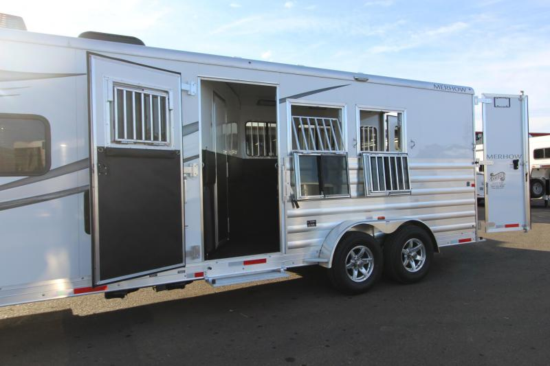 2021 Merhow Next Generation 7309 Horse Trailer- 3 Horse Trailer-Jack Knife Couch-Stud Wall