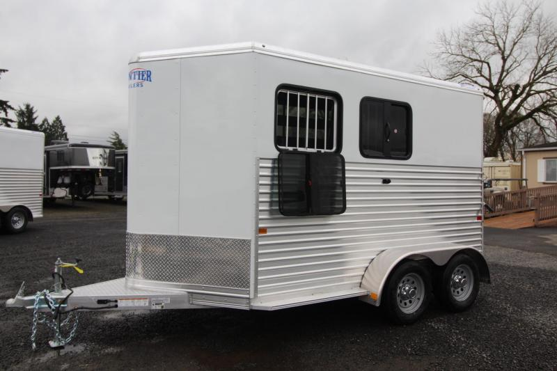 "2021 FRONTIER COLT SERIES 2 HORSE COMBO ALUMINUM HORSE TRAILER - 7'6"" TALL"
