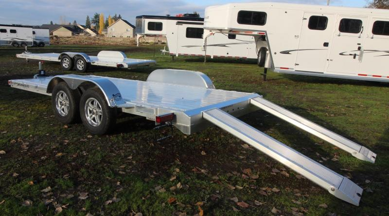 2021 Featherlite 3182 - 16ft FLATBED CAR TRAILER ALL ALUMINUM WITH RAMPS