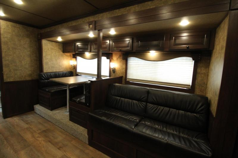 NEW 2019 Exiss 8316 - 3 Horse - 16' Short Wall Living Quarter w/ Slide-out Easy Care Flooring - All Aluminum Horse Trailer - Dinette and Sofa! - Upgraded L.Q. Features - Mangers - Stud Wall - PRICE REDUCED BY $6700!
