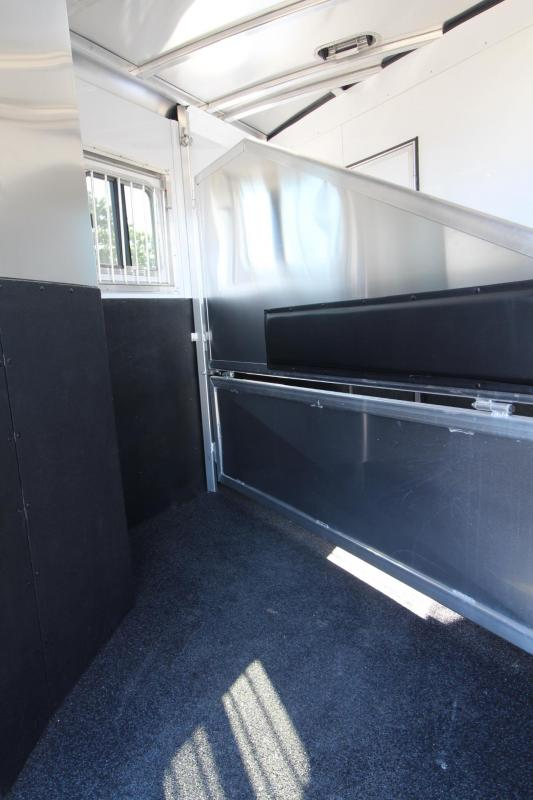 2020 Exiss 7204 4' S.W. - Solid Wood Upgrade - Easy Care Flooring - Electric Awning - 2 Horse Trailer PRICE REDUCED $2000