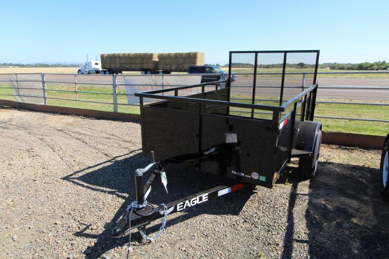 2020 Eagle 5x8 Falcon Utility Trailer - Single Axle - Rear ramp - Wood Decking