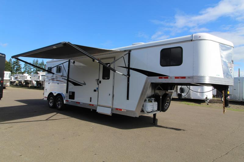 2021 Bison 8209 2 Horse Trailer-9' SW-Sofa-Swing Out Saddle Rack
