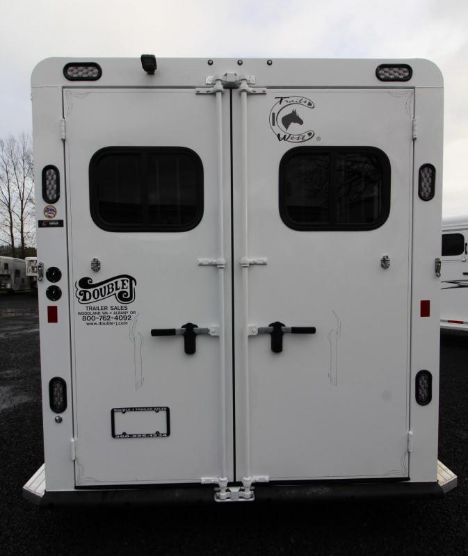 "2019 Trails West Sierra II 7'6"" Tall 2 Horse Trailer PRICE REDUCED - Triple Wall Construction - Drop Down Feed Doors"