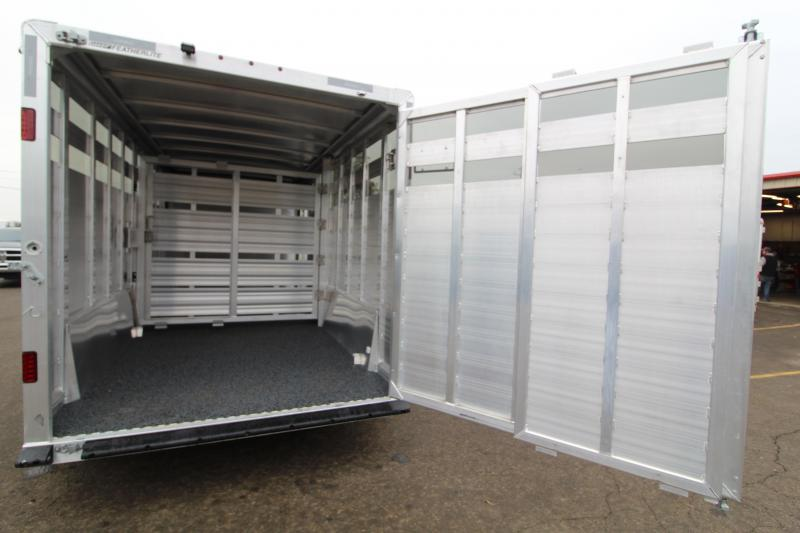 2021 Featherlite 8127 20' Stock Trailer-7' Wide-7' Tall-Easy Care Floor-Plexi Glass