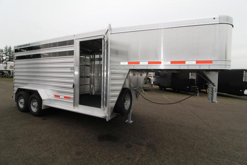 2021 Featherlite 8127 16' Stock Trailer-7' Wide-7' Tall-Easy Care Floor-Plexi Glass
