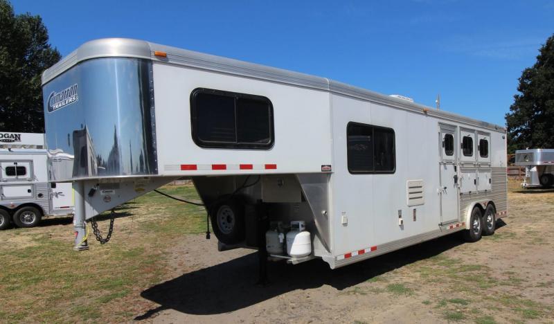 "2012 CIMARRON  3 HORSE 10' SW W/ OUTLAW INT! 8'W x 7'6""T - PRICE REDUCED"