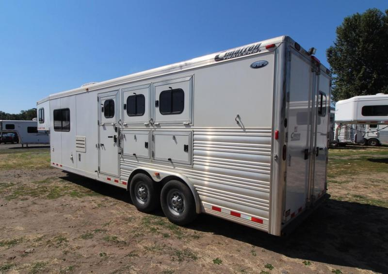 """2012 CIMARRON  3 HORSE 10' SW W/ OUTLAW INT! 8'W x 7'6""""T - PRICE REDUCED"""