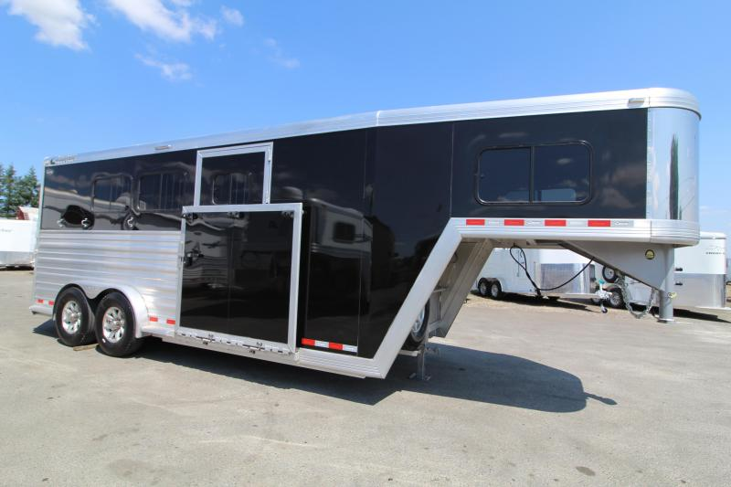 "2017 Cimarron 3 Horse Reverse Load Warmblood Trailer. 7'6""T x 7'6""W"